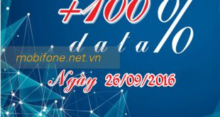 Mobifone khuyến mãi 100% Data 3G Fast Connect