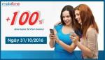 mobifone khuyến mãi 100 data ngày 31/10