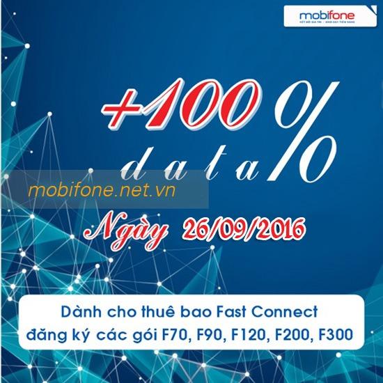 Mobifone khuyến mãi 100% Data 3G Fast Connect