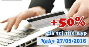 Mobifone tặng 50% nạp thẻ trực tuyến