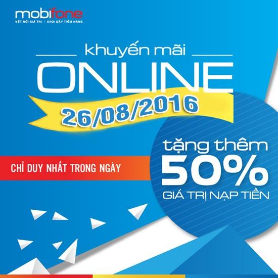 Mobifone khuyến mãi nạp tiền trực tuyến