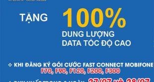Khuyến mãi ngày 27-28/7 tặng 100% Data