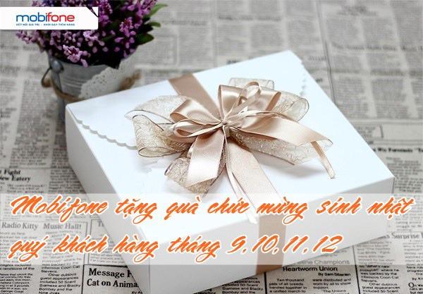 Mobifone chúc mừng khách hàng có sinh nhật tháng 9, 10, 11, 12