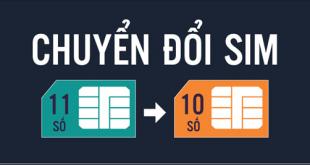 Sim 11 số Mobifone chuyển thành sim 10 số
