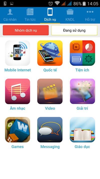 ứng dụng my mobifone