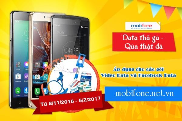 Khuyến mãi Mobifone xài Data thả ga, trúng quà thật đã